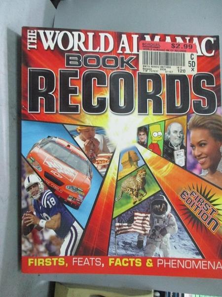 【書寶二手書T1/歷史_QEU】The World Almanac Book of Records: Firsts, Feats, Facts…