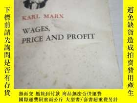 二手書博民逛書店WAGES,PRICE罕見AND PROFIT(英文)(工資、價格和利潤)Y200392 KARL MARX