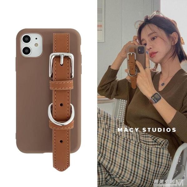 韓國氣質手腕帶手機殼適用iphone11promax防摔軟殼12防丟8p/X 遇見生活