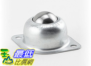 [106美國直購] (Case of 10)Hudson Bearings BT-1CS Two-Hole Flange Mounted Ball Transfer,Carbon Steel,