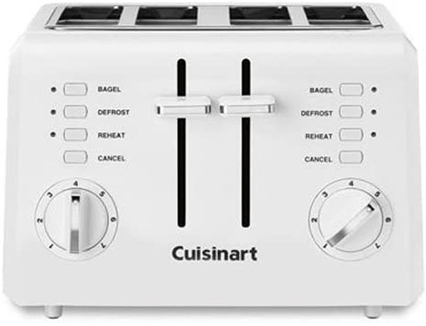 [9美國直購] 烤麵包機 Cuisinart CPT-142P1 2-Slice Compact Plastic Toaster, 4, White