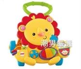 走路車多功能獅子手推車早教益智玩具黃色可選xw