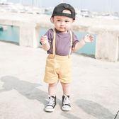 男寶寶套裝嬰兒童男童時尚潮衣服短袖背帶褲子短褲夏裝夏季 春生雜貨
