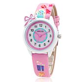 兒童手錶女孩可愛防水電子石英錶女童中小學生皮帶防水錶正韓簡約