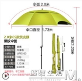 垂釣2.2米萬向雙層釣魚傘防雨防曬2.4米摺疊釣傘遮陽傘漁具傘  WD 遇見生活