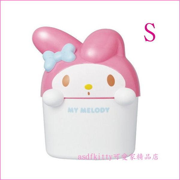 asdfkitty可愛家☆美樂蒂造型車用垃圾桶-底部有重物-安定防傾到-梳妝台也好用-日本正版商品