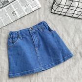 2018夏季新款女童牛仔包臀裙中小兒童寶寶短裙百搭寬松牛仔半身裙