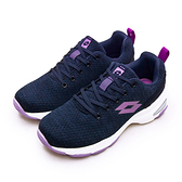 LIKA夢 LOTTO 增高厚底美型健走鞋 EASY WEAR 系列 深藍紫 1196 女