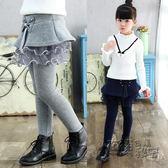 女童打底褲新款童裝韓版兒童加絨加厚長褲秋冬女孩假兩件裙褲 衣櫥秘密