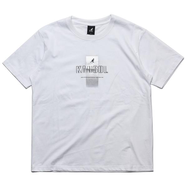 KANGOL 短袖 短T 白 燙銀 簍空 英文LOGO 棉 休閒 男 (布魯克林) 6021100200