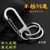 鑰匙圈鑰匙包叢林豹男士腰掛鑰匙扣 304不銹鋼 創意汽車鑰匙鍊掛件金屬鑰匙圈(免運)
