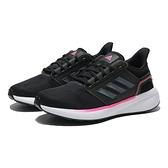 ADIDAS 慢跑鞋 黑 粉邊 網布 訓練 運動 EQ19 RUN 女 (布魯克林) H00933