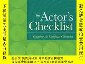 二手書博民逛書店【罕見】Cengage Advantage Books: The Actor s Checklist; 2013年