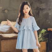 女童夏裝2019款韓版兒童短袖連身裙超洋氣女孩公主裙中大童仙女裙
