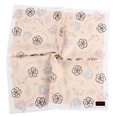 CLATHAS山茶花花束純綿帕巾(粉膚色)989265-8