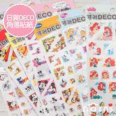 Norns 【日貨Deco角落貼紙】米老鼠 snoopy 公主 奇奇蒂蒂 手帳 行事曆 裝飾貼紙