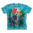 【摩達客】(預購) 美國進口The Mountain  雙金剛鸚鵡 純棉環保短袖T恤(10416045054a)