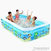 兒童充氣游泳池家庭超大型海洋球池加厚家用大號成人戲水池 igo時尚芭莎鞋櫃 igo 時尚芭莎鞋櫃