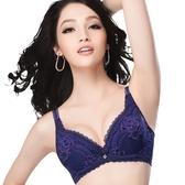 思薇爾-戀戀玫瑰系列A-G罩蕾絲包覆內衣(黯夜紫)
