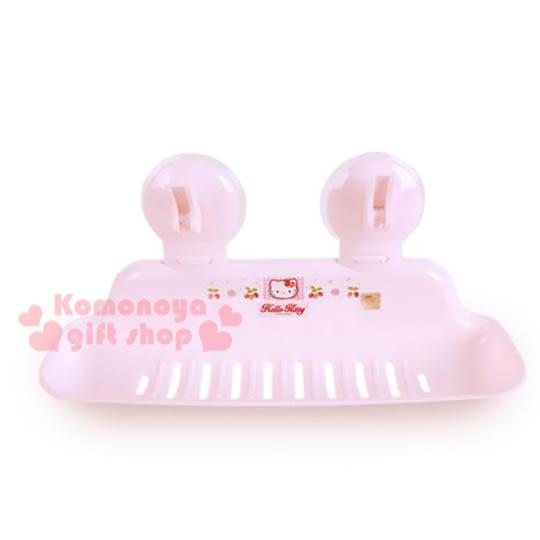 〔小禮堂韓國館〕Hello Kitty 加長型皂盤《粉.大臉.草莓》輕鬆美化空間 8805396-14012