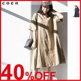 連身洋裝 亞麻連衣裙 休閒洋裝 約會 日本品牌【coen】