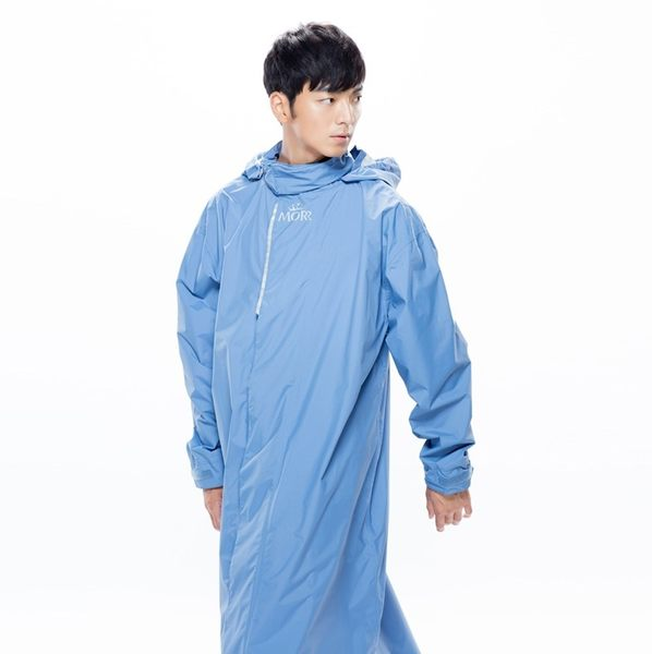 [中壢安信]MORR PostPosi Ⅰ 第一代 反穿雨衣 清晨藍 連身雨衣 MIT科技面料 磁釦吸附 NE1101