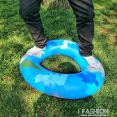 橡膠耐磨游泳圈成人男女加厚充氣救生圈兒童腋下圈大人特厚-ifashion