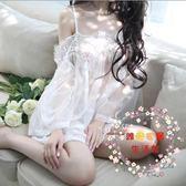 夏季性感透視蕾絲情趣內衣服風情女制服套裝情調衣睡裙睡袍 【好康免運】
