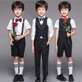 童裝禮服花童演出服短袖馬甲套裝正韓婚禮鋼琴表演合唱新款男童夏 全館八八折柜惠