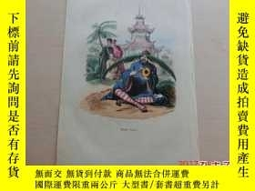 二手書博民逛書店【罕見】彩色蝕刻《中國僧人GRAVURE COULEURS CH