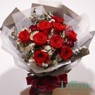 永生紅玫瑰花束--情人花束.生日花束.聖誕花束