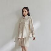 Queen Shop【01024172】雙口袋造型棉麻長袖襯衫*現+預*
