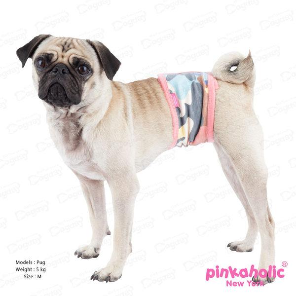 狗日子紐約《Pinkaholic》色彩美學禮貌帶 L號 公狗出門必備 禮貌至上