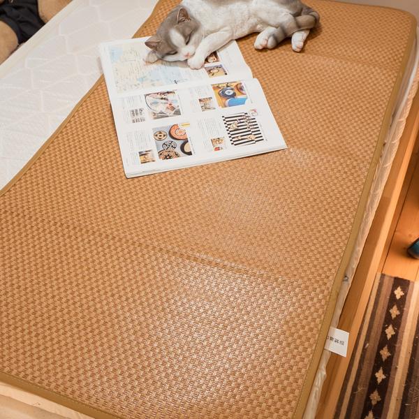 專櫃級MIT專利涼感 嬰兒童專用 3D軟藤紙纖薄涼蓆 純植物纖維 清涼透氣不夾髮 台灣製造 棉床本舖
