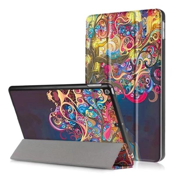 彩繪三折皮套 蘋果 New ipad 9.7 2017 平板皮套 保護套  9.7吋 保護套 卡斯特 三折支架 皮套 保護殼