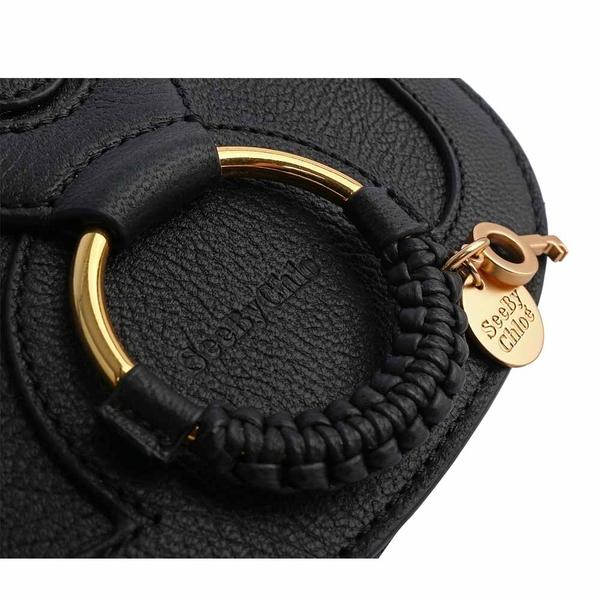 【SEE BY CHLOE】HANA BAG 迷你型山羊皮斜背包(黑) CHS17AS901305 001