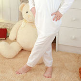 【Anny pepe】女童長褲基本款素面白(S&M)