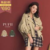(現貨)PUFII-外套 英倫風排釦澎袖風衣外套夾克 2色-0913 現+預 秋【CP15133】