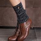 保暖瑜珈腿套【艾美天后】中性/男女均可百搭靴套針織襪套釘扣瑜珈腿套保暖短款翻口混色抽條