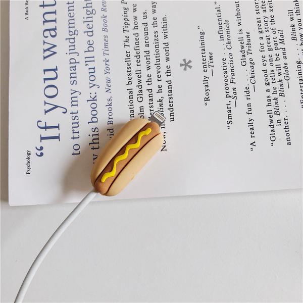 大亨堡 熱狗麵包 iPhone專用 充電線保護線套 傳輸線套 充電線套