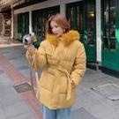 梨卡 - 短款保暖毛領鋪棉外套短大衣-造型毛領保暖加厚防風風衣鋪棉外套大衣-FR001-1