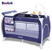 可折疊嬰兒床多功能便攜式游戲床寶寶美國bb搖籃床帶滾輪