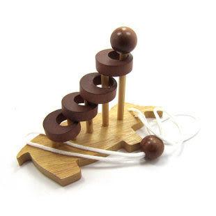 成人益智智力玩具 孔明鎖魯班鎖 木制解鎖解套玩具 大象解套