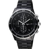 agnes b. 巴黎限定計時手錶-鍍黑/43mm VK67-KXB0SD(B7A003X1)