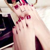 美甲工具用品 彩色成品腳趾甲貼片甲片