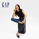 Gap女裝 時尚復古超高腰五口袋牛仔褲 600450-靛藍色