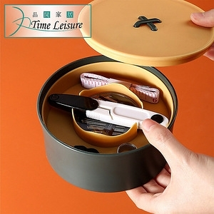 Time Leisure 日系創意鈕扣縫紉針線盒套組 黃綠款