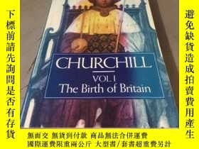 二手書博民逛書店CHURCHILL罕見(VOLI The Birth of Britain) 平裝Y24878 WINSTON