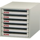 SHUTER 樹德 B4V-106P 桌上型資料櫃 6抽 300x400x297mm
