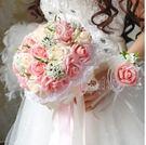 韓版仿真新娘伴娘手捧花 婚禮攝影道具 贈胸花手腕花 Eb11127『樂愛居家館』